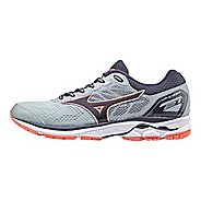 Womens Mizuno Wave Rider 21 Running Shoe - Grey/Navy 8.5