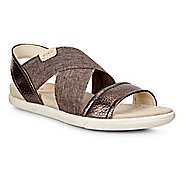 Womens Ecco Damara 2-Strap Sandals Shoe - Licorice/Powder 37