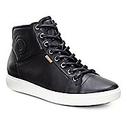 Womens Ecco Soft 7 High Top Casual Shoe - Black 10.5