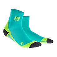 Mens CEP Dynamic+ Short Socks Injury Recovery - Lagoon/Lime L