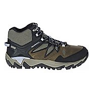 Womens Merrell All Out Blaze 2 Mid Waterproof Hiking Shoe - Dark Olive 7.5