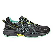 Womens ASICS GEL-Venture 6 Trail Running Shoe - Black/Mint 10