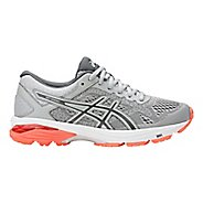 Womens ASICS GT-1000 6 Running Shoe - Grey/Coral 7.5
