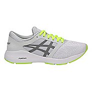 Womens ASICS Roadhawk FF Running Shoe - Grey/Black/Yellow 9.5