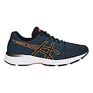 Mens ASICS GEL-Exalt 4 Running Shoe - Blue/Black/Orange 11
