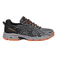 Mens ASICS GEL-Venture 6 Trail Running Shoe - Grey/Orange 15