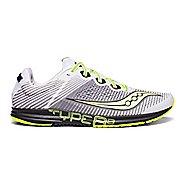 Mens Saucony Type A8 Racing Shoe - White/Black/Citron 7