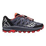 Mens Saucony Koa ST Trail Running Shoe - Grey/Black/VizRed 12.5