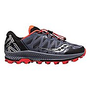 Mens Saucony Koa ST Trail Running Shoe - Grey/Black/VizRed 9