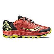 Mens Saucony Koa ST Trail Running Shoe - Orange/Citron 9
