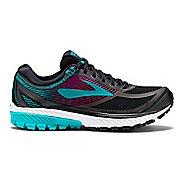 Womens Brooks Ghost 10 GTX Running Shoe - Black/Green 7.5