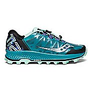 Womens Saucony Koa ST Trail Running Shoe - Green/Black/Aqua 5.5