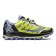 Womens Saucony Koa ST Trail Running Shoe - Citron/Purple 6
