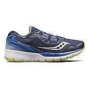 Womens Saucony Zealot ISO 3 Running Shoe - Navy/Purple 10.5