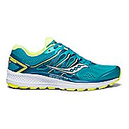 Womens Saucony Omni 16 Running Shoe - Teal/Citron 10.5
