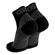 OS1st FS4 Plantar Fasciitis Quarter Crew Socks Injury Recovery - Black M