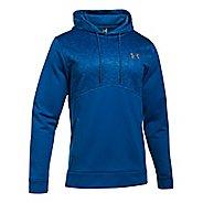 Mens Under Armour Fleece Hood - Digi Texture Half-Zips & Hoodies Technical Tops