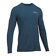 Mens Under Armour Back Graphic Long Sleeve Technical Tops - True Ink Heather M