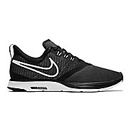 Mens Nike Zoom Strike Running Shoe - Black/White 9