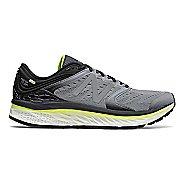 Mens New Balance Fresh Foam 1080v8 Running Shoe - Grey/Yellow 10.5