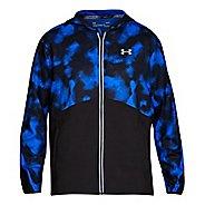 Mens Under Armour Run True SW Printed Running Jackets - Lapis Blue L