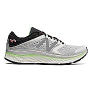 Womens New Balance Fresh Foam 1080v8 Running Shoe - White/Green 9.5