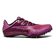 Womens Saucony Spitfire 4 Track and Field Shoe - Purple/Pink 5