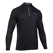Mens Under Armour Tech Emboss 1/4 Zip Half-Zips & Hoodies Technical Tops - Black L