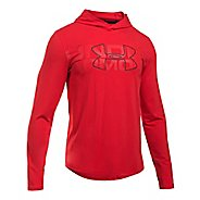 Mens Under Armour Sportstyle Stretch Half-Zips & Hoodies Technical Tops - Red XL