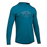 Mens Under Armour Sportstyle Stretch Half-Zips & Hoodies Technical Tops - Bayou Blue S