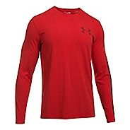 Mens Under Armour Sleeve Hit Long Sleeve Technical Tops - Red M
