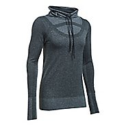 Womens Under Armour Threadborne Seamless Heather Funnel Neck Short Sleeve Technical Tops - ...