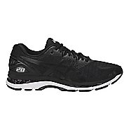Mens ASICS GEL-Nimbus 20 Running Shoe - Black/White 9