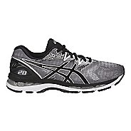 Mens ASICS GEL-Nimbus 20 Running Shoe - Silver/Black 6.5