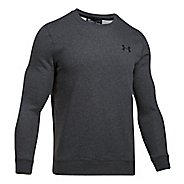 Mens Under Armour Rival Solid Fitted Crew Long Sleeve Technical Tops