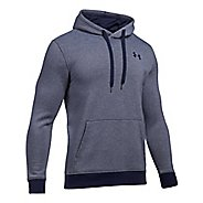 Mens Under Armour Rival EOE Fitted Pullover Half-Zips & Hoodies Technical Tops - Midnight Navy L