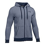 Mens Under Armour Rival EOE Fitted Full-Zip Half-Zips & Hoodies Technical Tops - Midnight Navy M