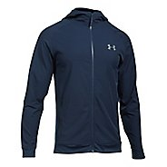 Mens Under Armour Woven Running Jackets - Midnight Navy/Grey M