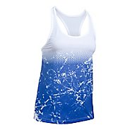 Womens Under Armour Hex Delta Racer Sleeveless & Tank Tops Technical Tops - White/Lapis Blue L