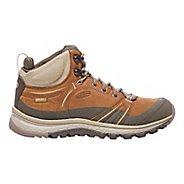 Womens Keen Terradora Leather Mid WP Hiking Shoe - Timber/Cornstalk 10