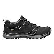 Womens Keen Terradora Leather WP Hiking Shoe - Black/Grey 10.5