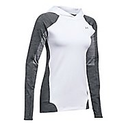 Womens Under Armour ColdGear PO Hoodie  Technical Tops - White M