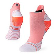 Womens Stance Run Uncommon Solid Tab Socks - Coral M