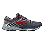 Mens Brooks Launch 5 Running Shoe - Ebony/Grey/Red 8