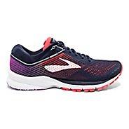 Womens Brooks Launch 5 Running Shoe - Navy/Coral/Purple 9