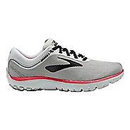 Womens Brooks PureFlow 7 Running Shoe - Grey/Black/Pink 11.5