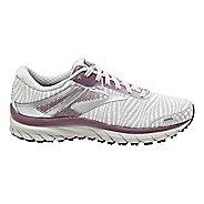 Womens Brooks Adrenaline GTS 18 Running Shoe - White/Purple 6