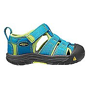 Kids Keen Newport H2 Sandals Shoe - Black/Green Glow 5C
