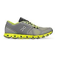 Mens On Cloud X Running Shoe - Grey/Neon 11.5