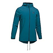 Mens Under Armour Sportstyle Fish Tail Casual Jackets - Bayou Blue/True Ink S